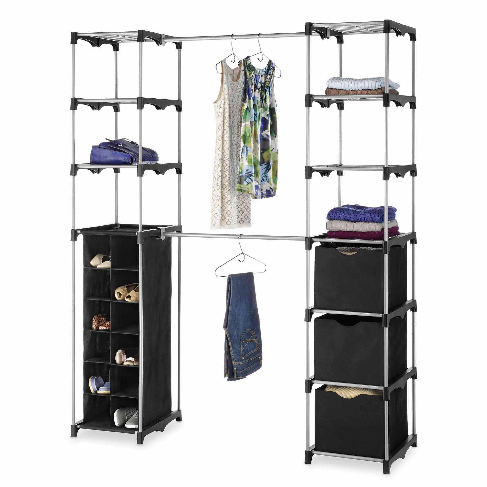 Whitmor Deluxe Double Rod Organizer