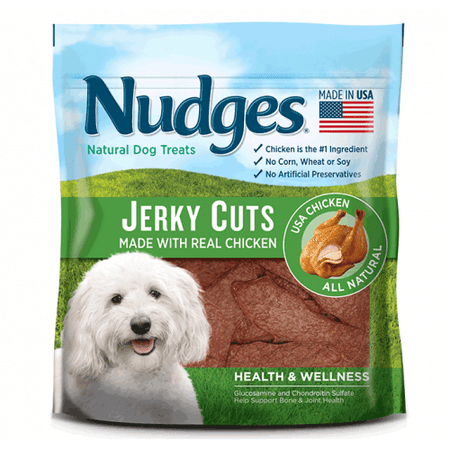 Nudges Health and Wellness Chicken Jerky Dog Treats, 5 Oz