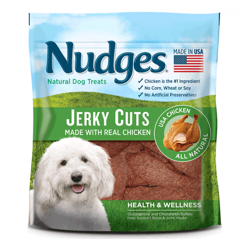 Nudges Health and Wellness Chicken Jerky Dog Treats, 5 oz.