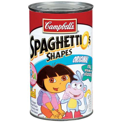 Campbell's: Spaghettios Shapes Original Canned Food, 26 oz