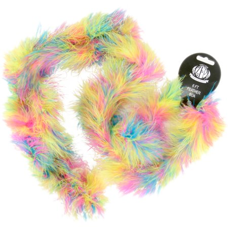 Marabou Feather Boa, Multicolor, Medium Weight, 72