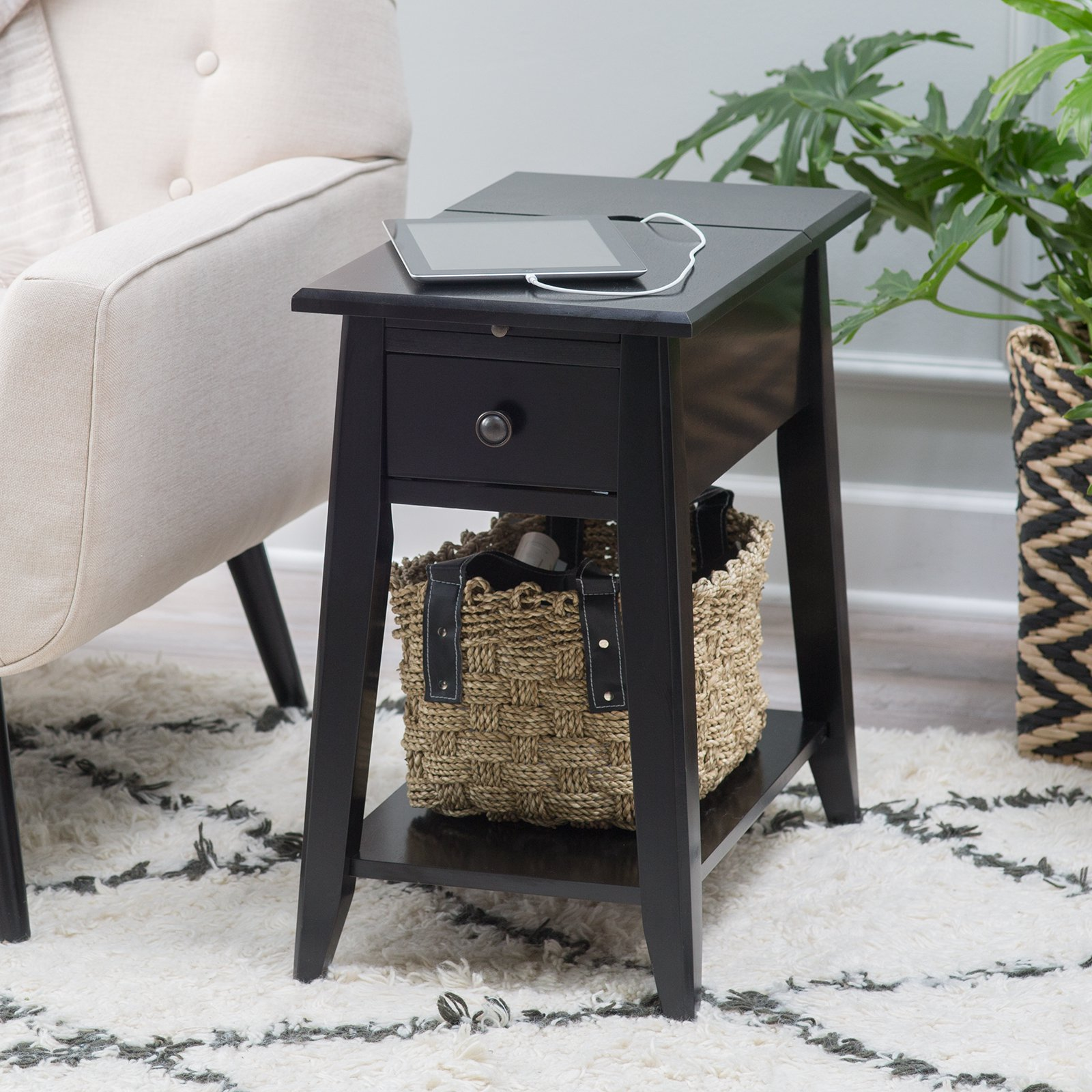Davis Chairside Table with Power Outlet