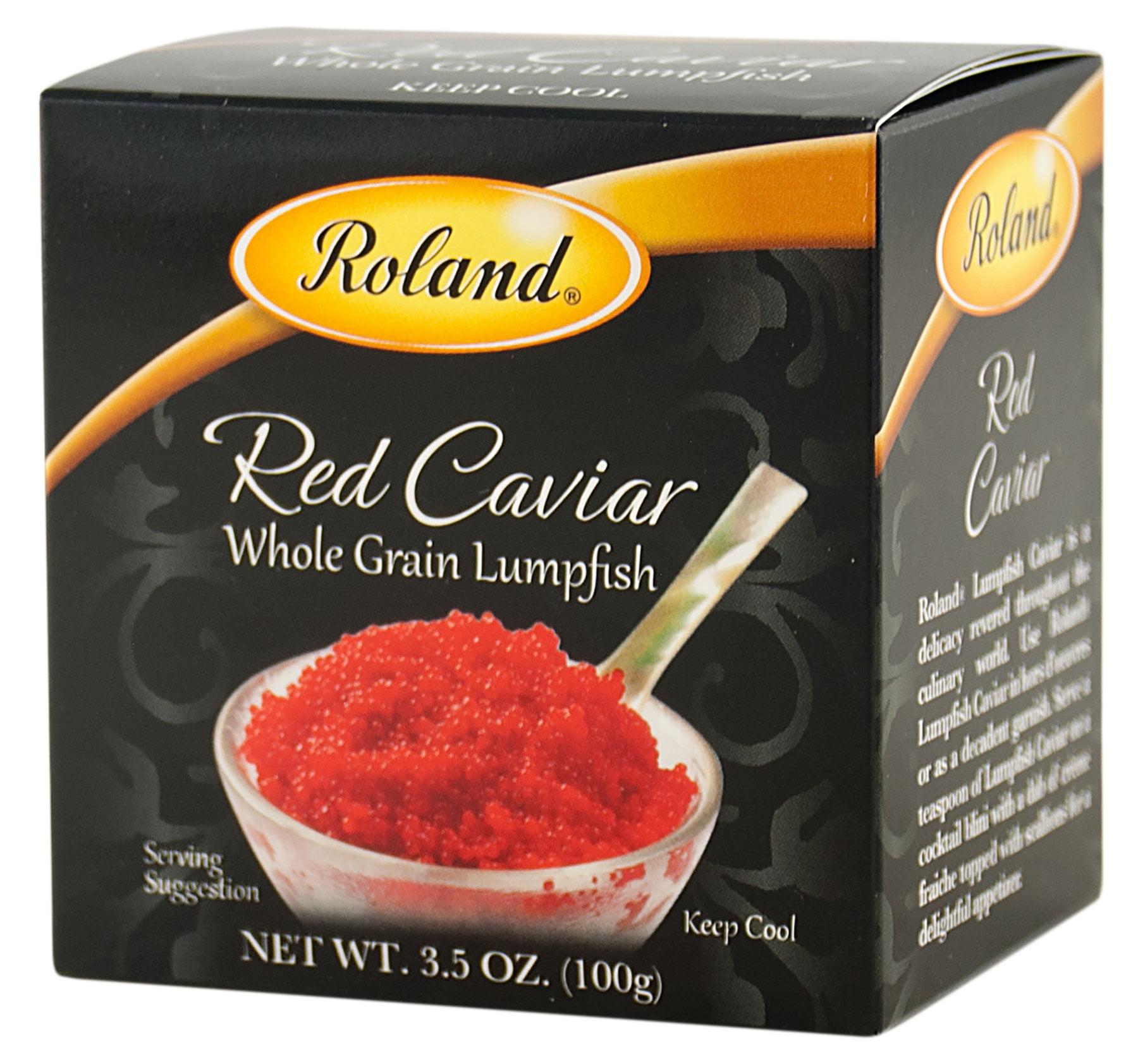 Roland Red Lumpfish Caviar, 3.5 Oz by Roland Corporation