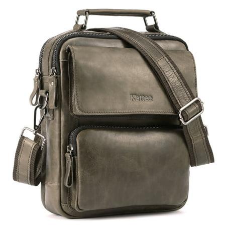 Kattee Vintage Leather Business Messenger Bag Satchel Handbag for Men ()