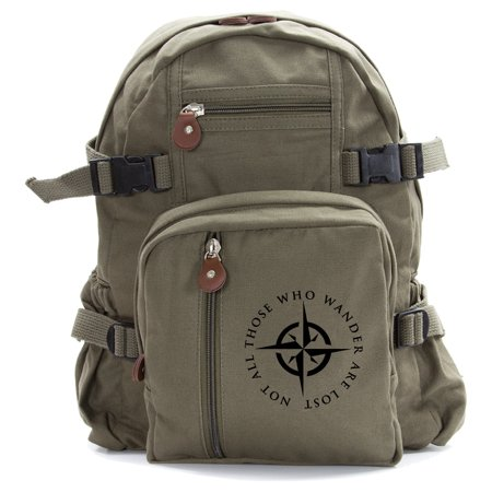 LOTR Not All Those Who Wander Are Lost Heavyweight Canvas Backpack Bag - Ring Bearer Backpack