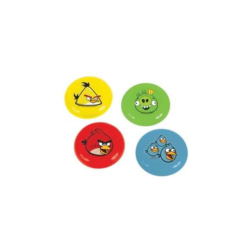 Amscan 225854 4''W Angry Birds Flying Discs