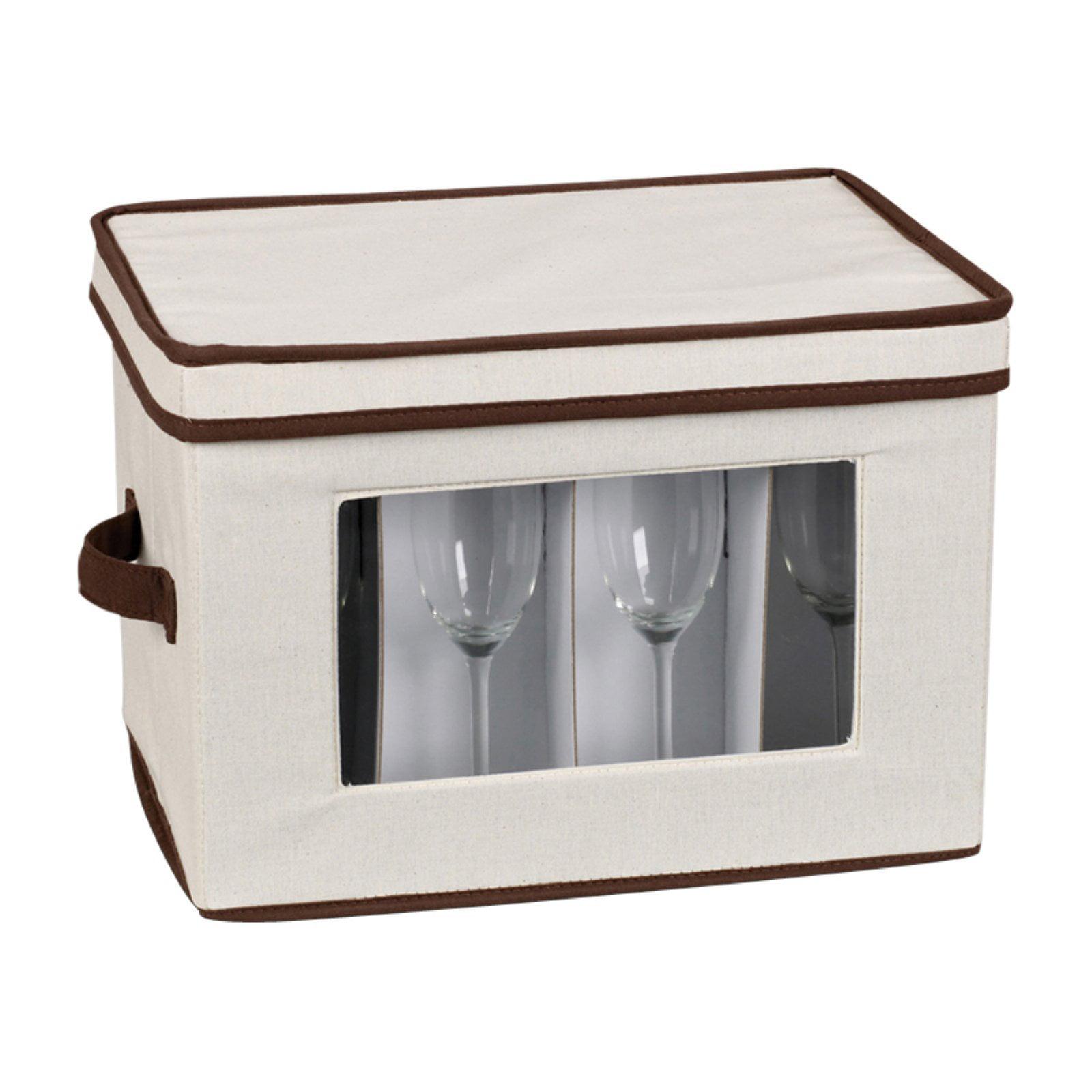 Household Essentials Window Vision Stemware Flute Chest