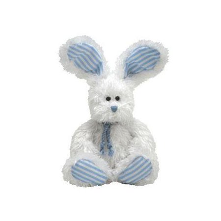 Ty Beanie Babies 2.0 Hopsy White Bunny with Blue Accents