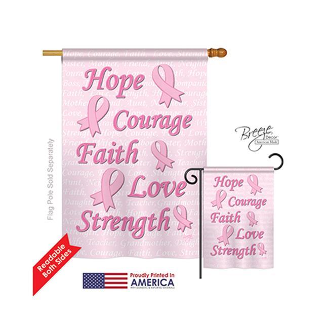 Breeze Decor 15080 Hope 44 Faith 44 Courage 2 Sided Vertical Impression House Flag 28 X 40 In Walmart Com Walmart Com