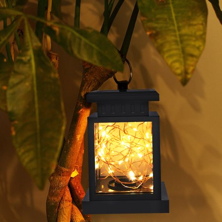Solar Lights Outdoor Hanging Solar Lantern , Solar Garden Lights for Patio Landscape Yard, Warm White , Dusk to Dawn Auto Sensor On Off