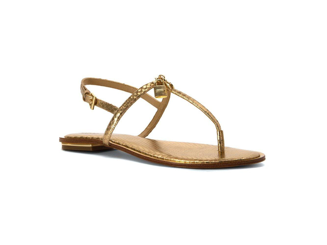 14979146aead0 Michael Michael Kors Womens Suki Leather Open Toe Casual