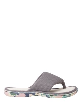 a4e200666bfc Product Image DF by Dearfoams Womens Thong with Printed Outsole Slipper