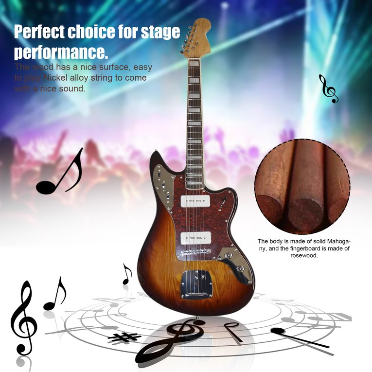 Electric Guitar SY-ST-009 Bass Wood Body 21 Frets P90 Pic...