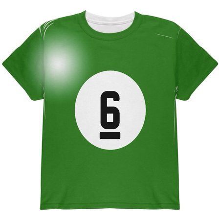 Halloween Billiard Pool Ball Six Costume Youth T Shirt (Watch Halloween 6)