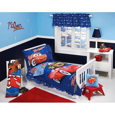 discontinued disney pixar cars club 4 piece toddler bedding set