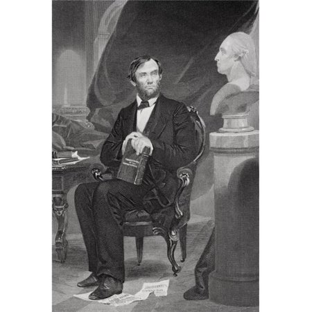 Posterazzi DPI1857741LARGE Abraham Lincoln 1809-65 16th President of The United States 1861-65 From Painting by Alonzo Chappel Print, Large - 22 x 34 - image 1 de 1