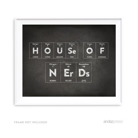 House of Nerds Periodic Table of Elements Vintage Chalkboard Wall Art Décor (Vintage Periodic Table)