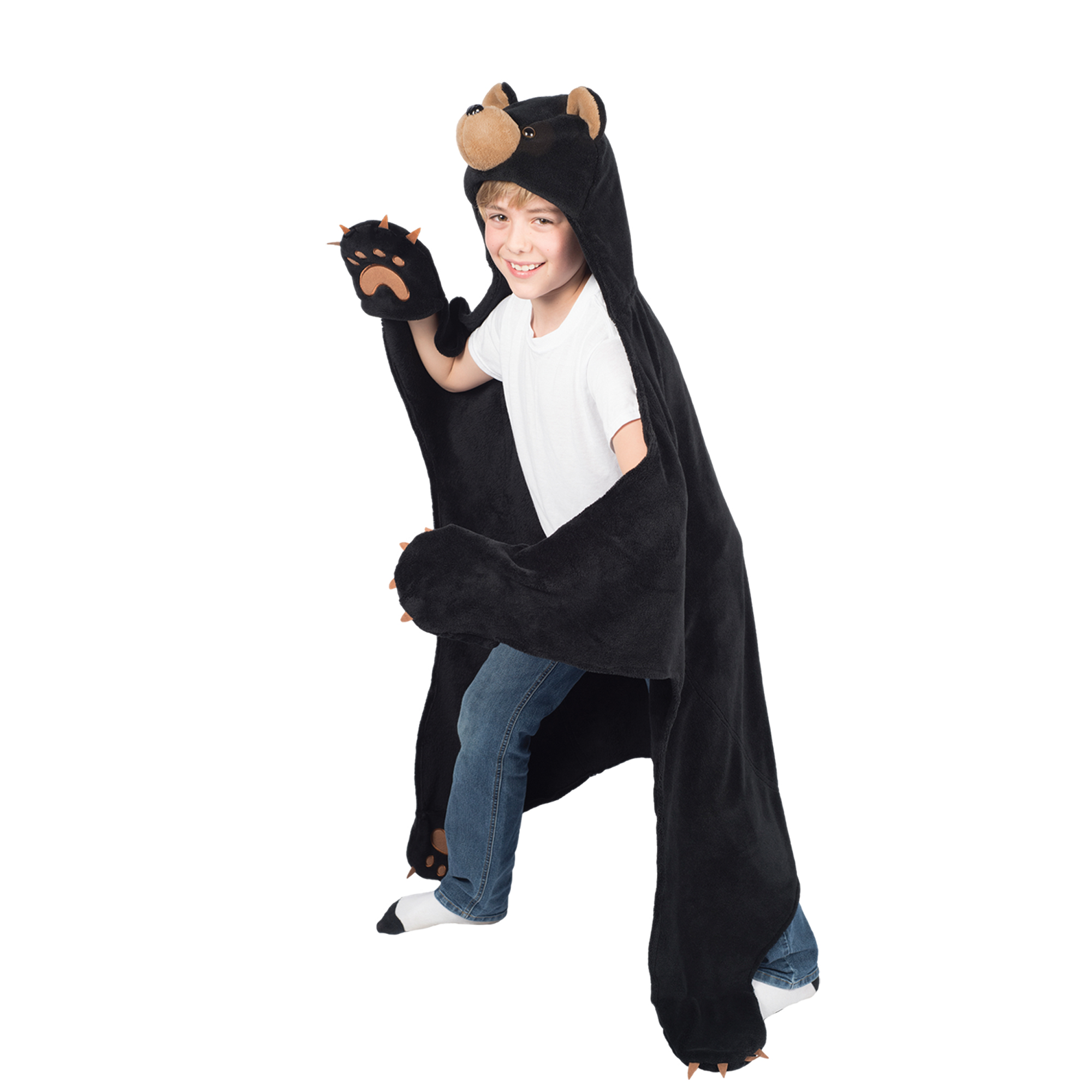 Wild Things Timber Brown Bear, Hooded Animal Blanket by Fin Fun