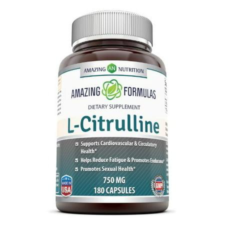 Amazing Formulas L-Citrulline 750 Mg 180 Capsules