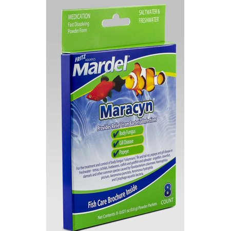 Fritz aquatics 8 count mardel maracyn broad spectrum for Fish antibiotics walmart