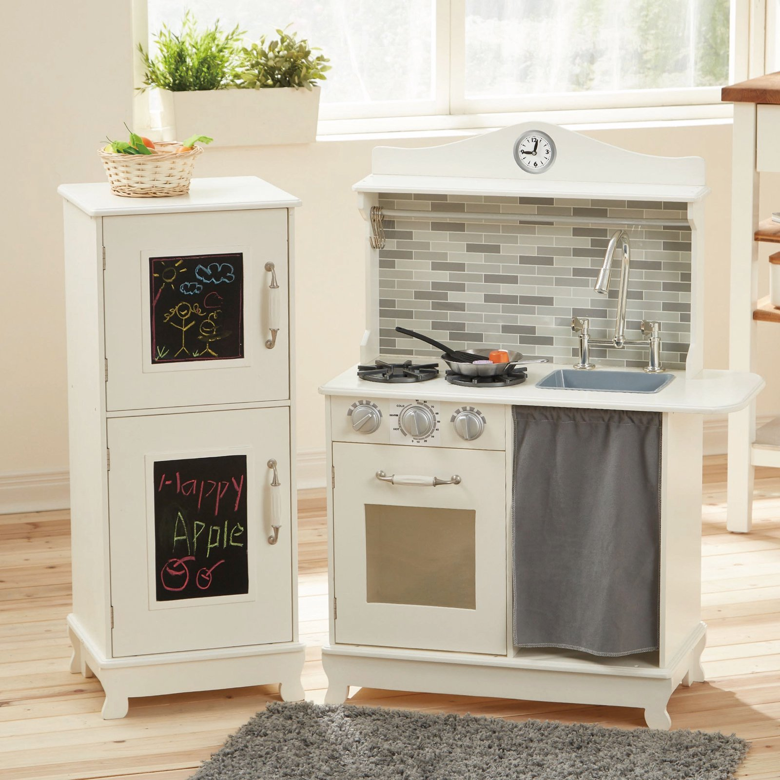 Teamson Kids - Sunday Brunch Wooden Play Kitchen - White