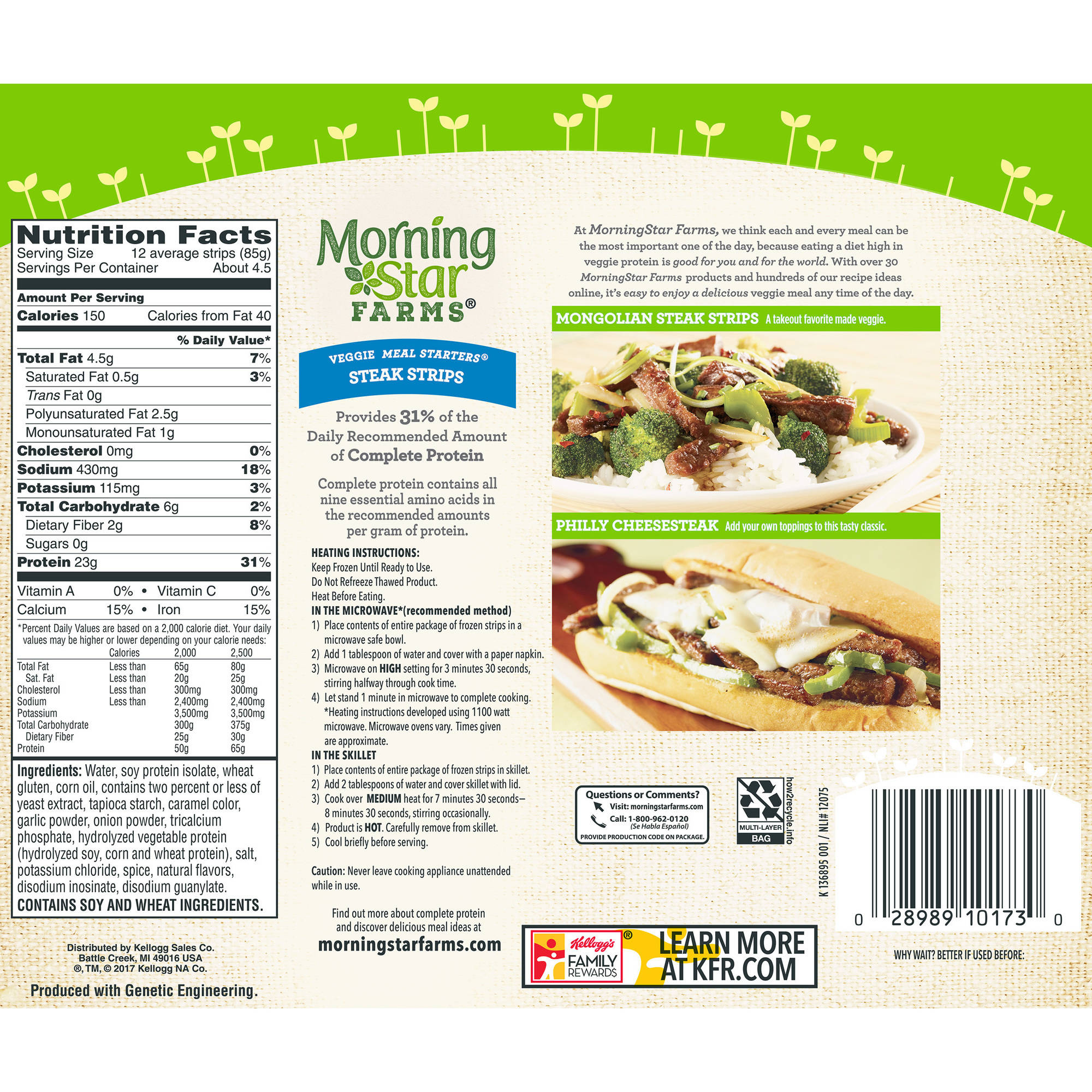 MorningStar Farms Veggie Meal Starters Steak Strips Veggie Strips ...