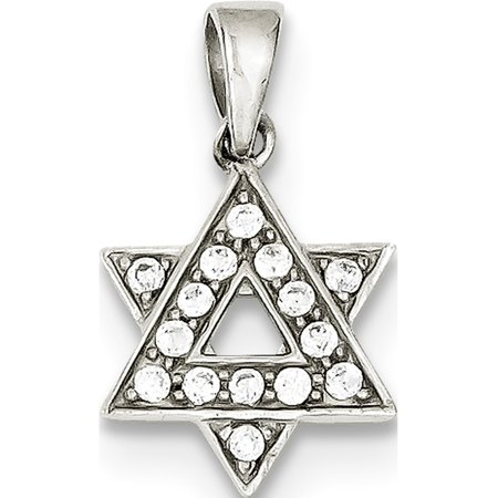 925 Sterling Silver CZ Star of David (12x14mm) Pendant / Charm - image 2 de 2
