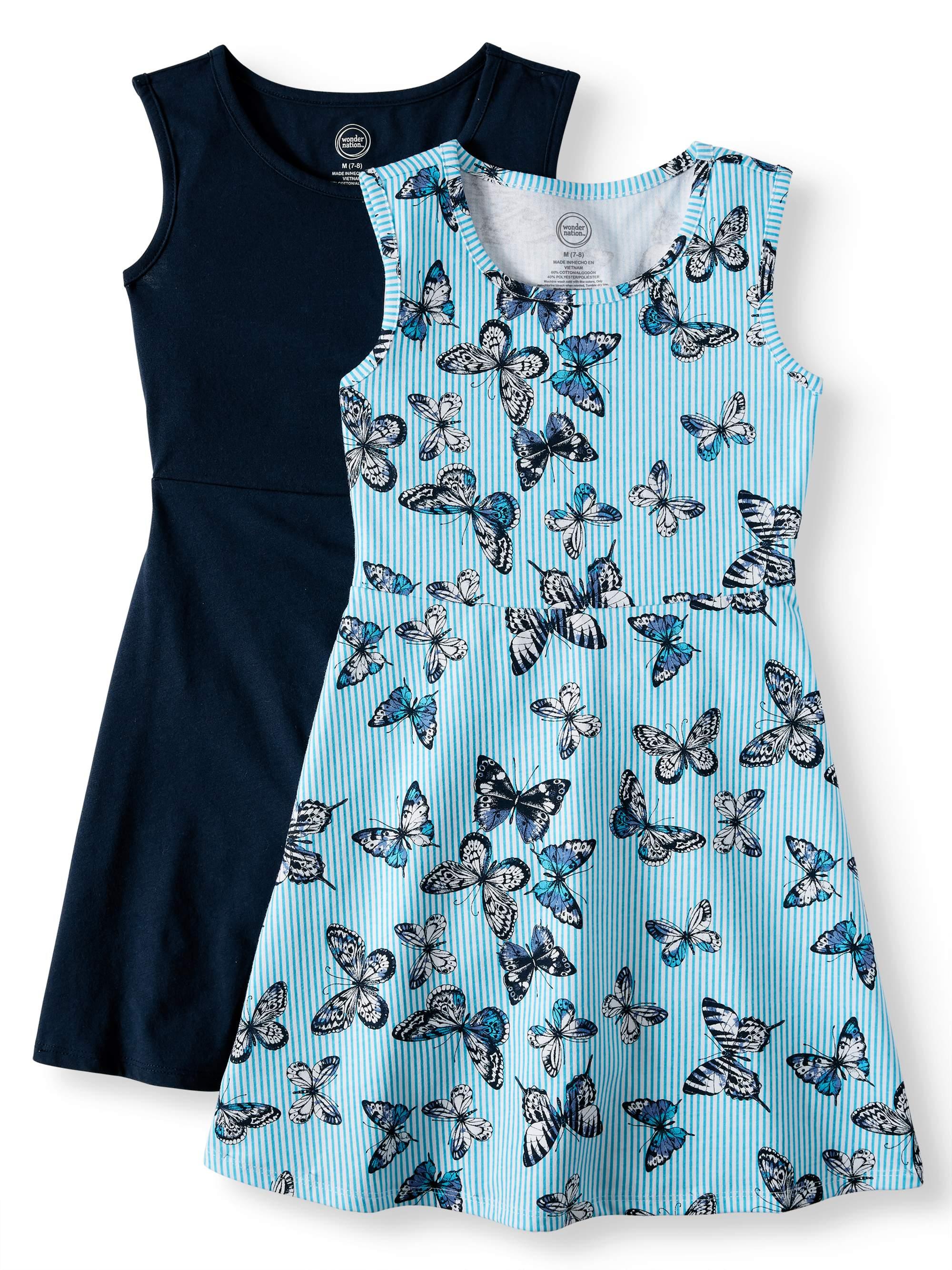 Sleeveless Play Dress, 2-Pack (Little Girls, Big Girls & Big Girls Plus)