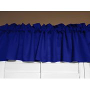 "Solid Poplin Window Valance 58"" Wide Royal Blue"