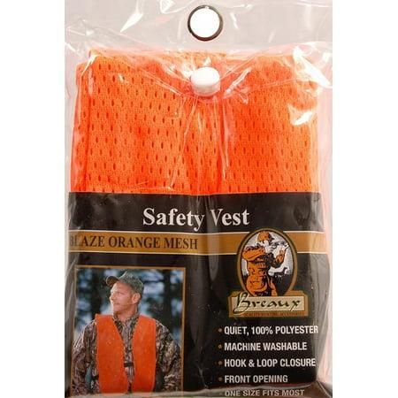 Breaux Blaze Orange Mesh Safety Hunting - Orange Vest