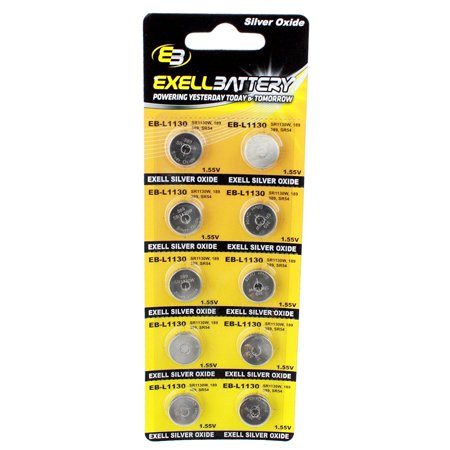 10pk S1131 Silver Oxide 1.5V Watch Battery Replace SR54 WS16 SR44 SR44H USA SHIP ()