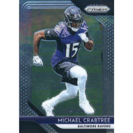 Michael Crabtree Football - 2018 Panini Prizm #187 Michael Crabtree Baltimore Ravens Football Card
