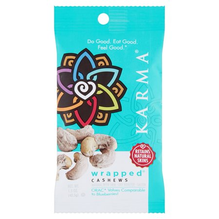 Karma Cashews Wrapped,1.5 Oz (Pack Of 12)