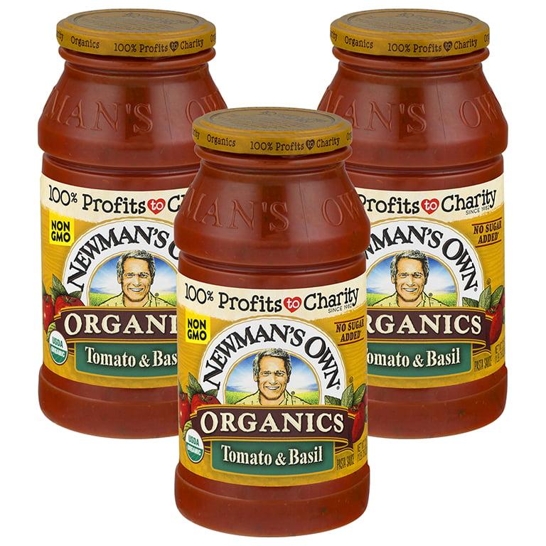 (3 Pack) Newman's Own Pasta Sauce, Tomato & Basil Bombolina, 24 Oz