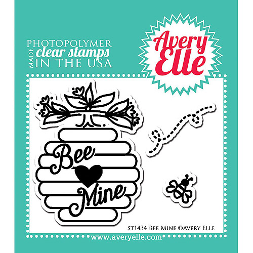"Avery Elle Clear Stamp Set, 2"" x 3"", Bee Mine"