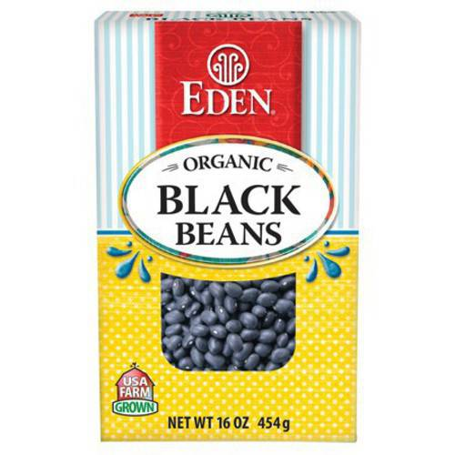 Eden Black Beans, Organic Dry , 16 Ounce (Pack of 6) by