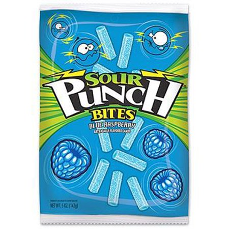 Product Of Sour Punch, Blue Raspberry Bites, Count 12 (5 oz) - Sugar Candy / Grab Varieties & Flavors for $<!---->