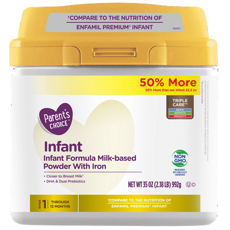 Parent's Choice Non-GMO Premium Infant Formula with Iron, 35 (Best Breakfast For Infants)