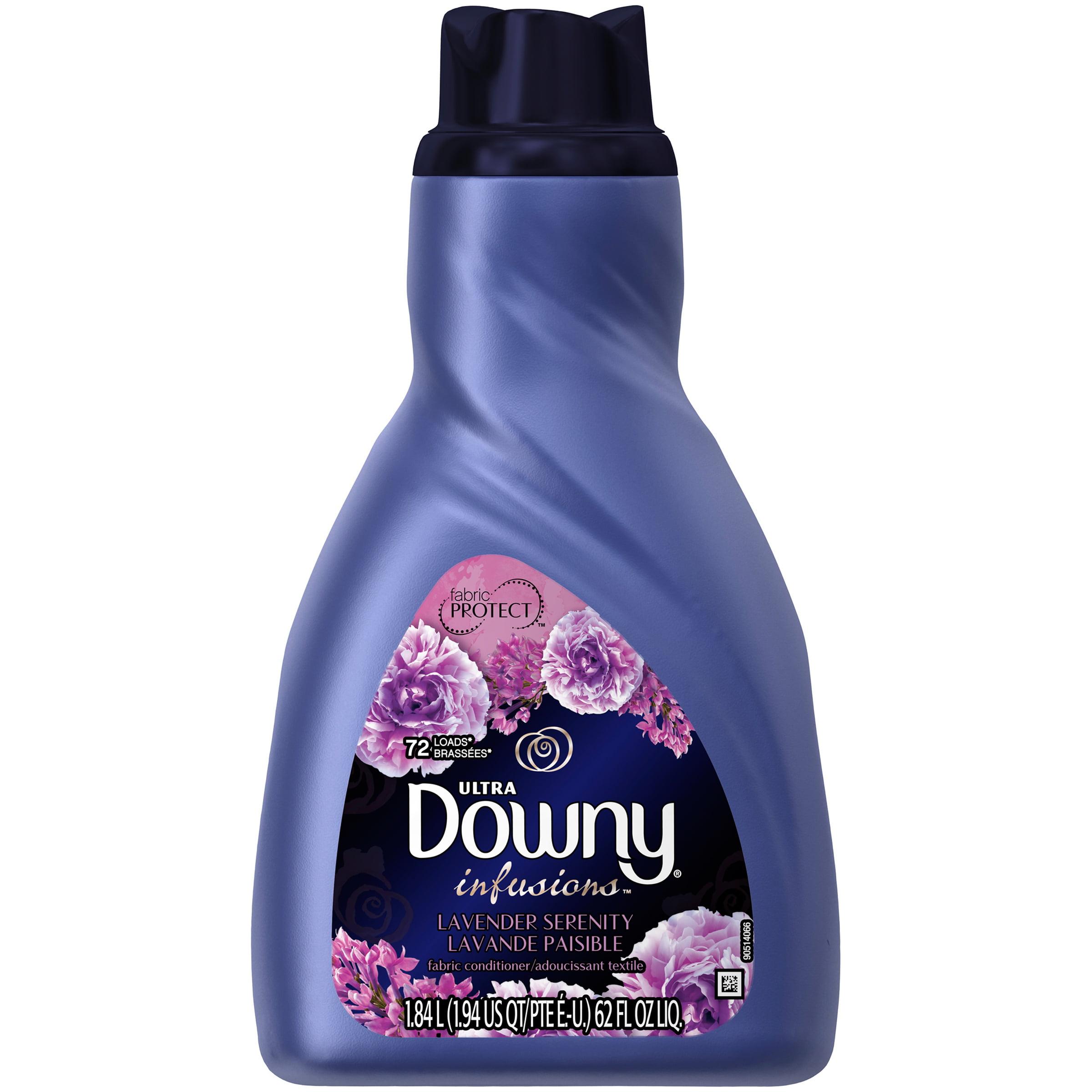 Downy Ultra Infusions Liquid Fabric Conditioner, Lavender Serenity, 72 Loads 62 fl oz