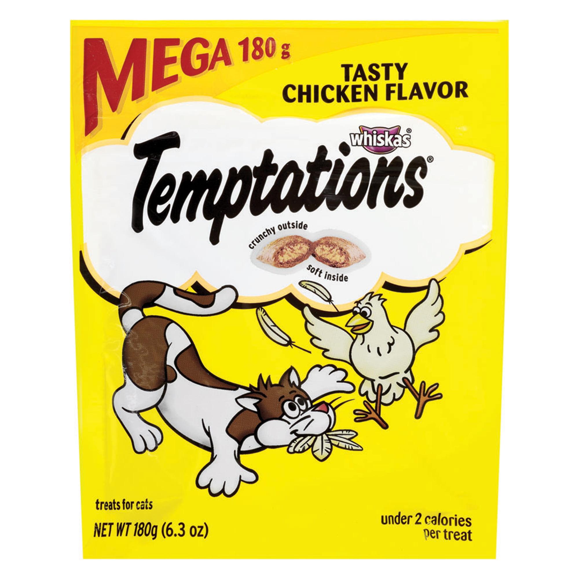 TEMPTATIONS Classic Tasty Chicken Flavor Cat Treats, 6.3 Oz.