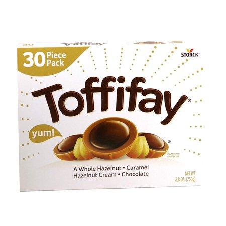 Toffifay A Whole Hazelnut, Caramel, Hazelnut Cream and Chocolate Box, 8.8 Oz. Chocolates Heart Shaped Box
