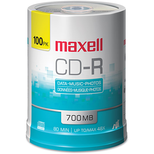 Maxell Standard 120mm CD-R Media 100-Pack Spindle
