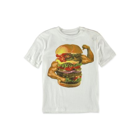 Boys With Muscles (Boys Muscle Burger Graphic T-Shirt 102 Xs - Little Kids)