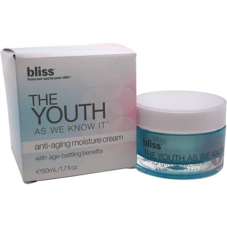 Bliss La jeunesse comme nous la connaissons Anti-âge Crème hydratante pour unisexe, 1,7 fl oz