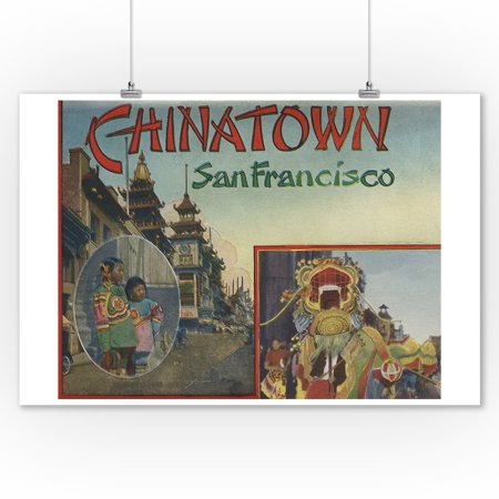 Greetings From Chinatown - San Francisco, CA Dragon Parade (9x12 Art Print, Wall Decor Travel Poster) - Parade Halloween San Francisco