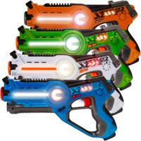 Best Choice Products Set of 4 Infrared Laser Tag Blaster Set for Kids & Adults w/ Multiplayer Mode