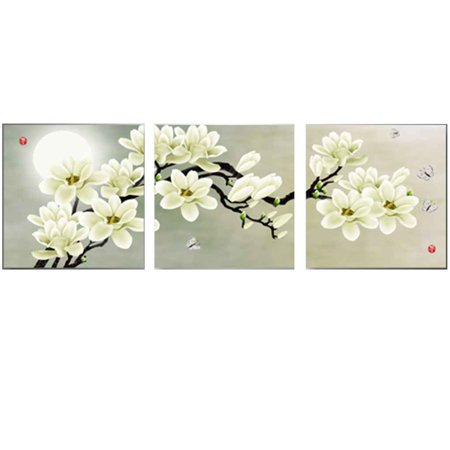 Joyfeel 2019 Hot Sale 3 Panel Canvas Oil Painting Wall Pictures for Modular Living Room Decoration Oil Paintings Flower Picture ()