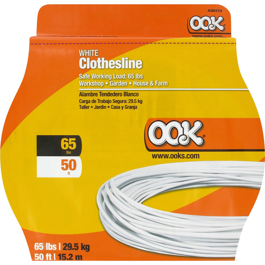 Ook 65 lb White Clothes Line, 50'