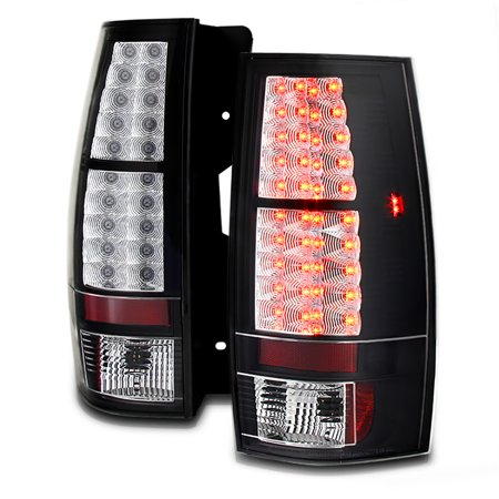 VIPMotoZ 2007-2014 Chevrolet Suburban Tahoe GMC Yukon Yukon XL LED Taillights Taillamps, Driver and Passenger Side Chevy Tahoe Drivers Side Tail