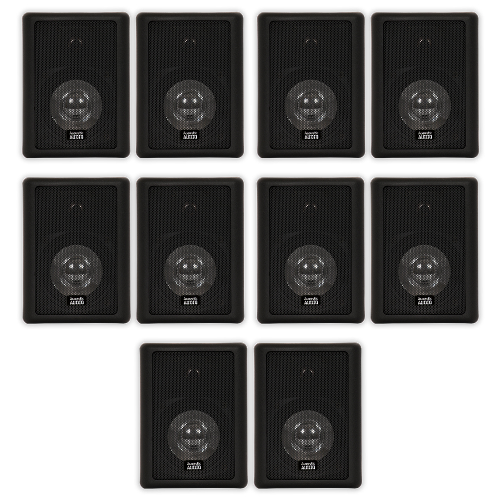 Acoustic Audio 151b Indoor Outdoor 2 Way Speakers 3000 Watt Black 5